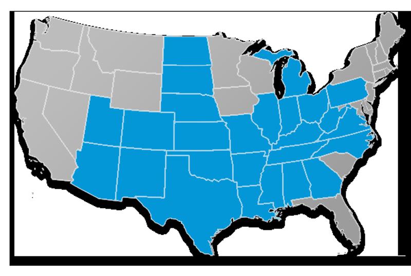 Trinity Life Insurance Company State Availability Map