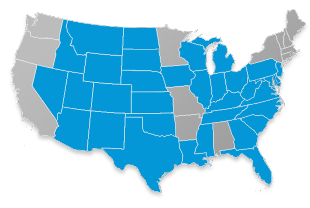 Liberty Bankers Life Medicare Supplement state availability map