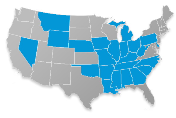 GTL Home Healthcare coverage map