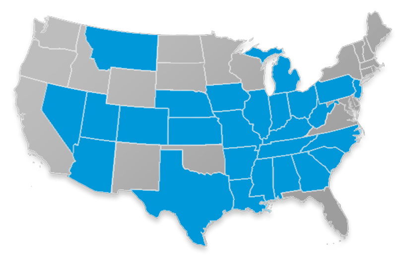 Prosperity Life Group Medicare Supplement state availability map
