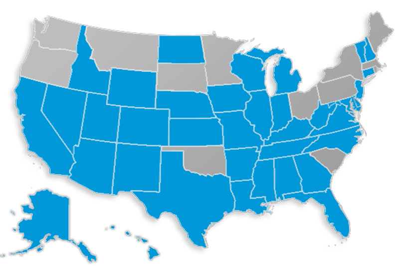 Assurant Final Expense state availability mapAssurant Final Expense state availability map