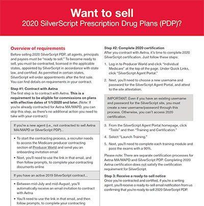 2020 SilverScript Prescription Drug Plans