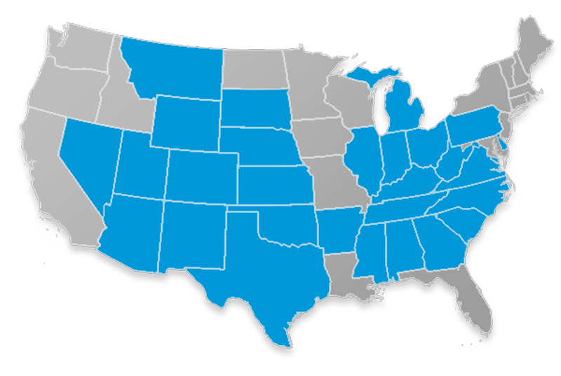 Bankers Fidelity Hospital Indemnity Plan Availability Map