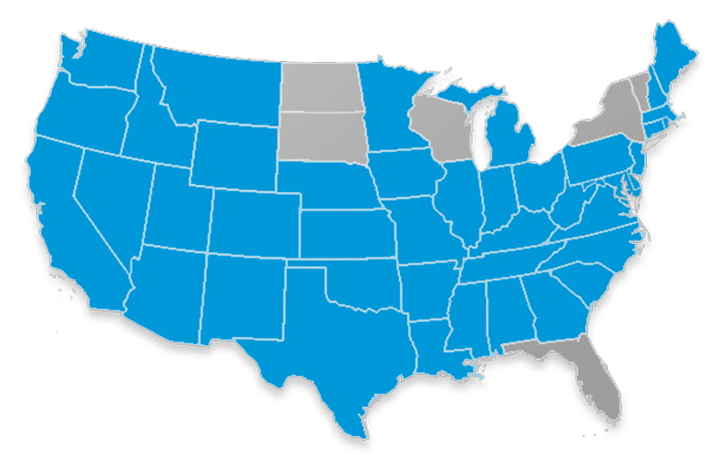 Bankers Fidelity Final Expense State Availability Map