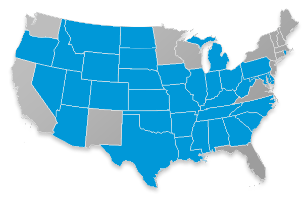 GTL Short Term Home Health Care Coverage Map